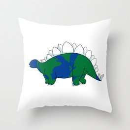 Earth Steggy Throw Pillow