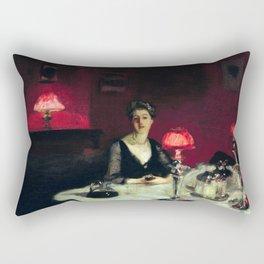 John Singer Sargent A Dinner Table at Night Rectangular Pillow
