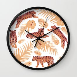 Tigers and Palms  Wall Clock