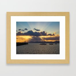 Dramatic Sunset Sky at Arrecife, Lanzarote Framed Art Print