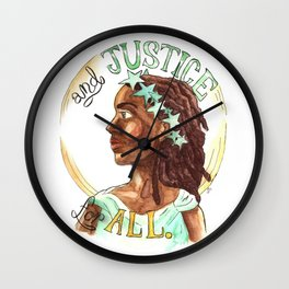Liberty and Justice For All Wall Clock