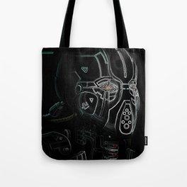 Glitchmask Zone Tote Bag