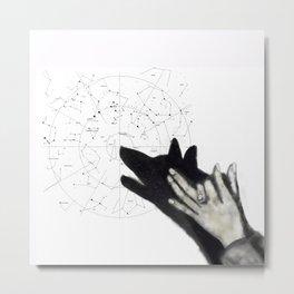 Howling at cosmos Metal Print