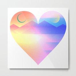 Sunset Heart Metal Print