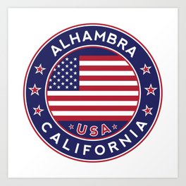 Alhambra, California Art Print