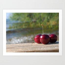 Traverse City cherries Art Print