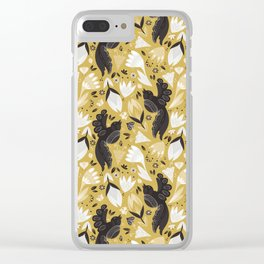 Birds & Bugs in Yellow Clear iPhone Case