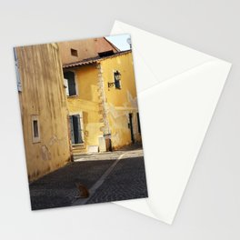 The little cat in the street of Martigues France Stationery Cards