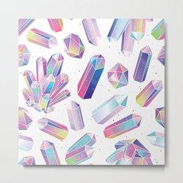 Purple Crystals Metal Print