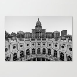 Austin Texas USA State Capitol - Black and White Edition Canvas Print