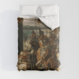 Eugne Delacroix - Entry of the Crusaders in Constantinople Comforters