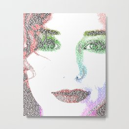 Tori Amos - word portrait Metal Print