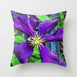 Purple Furple Throw Pillow