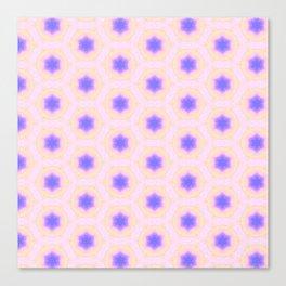 Tiny blue stars pattern Canvas Print