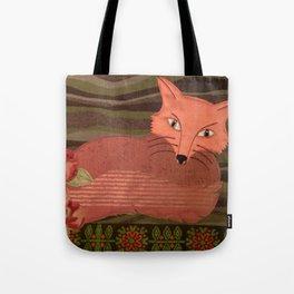 Fiber Fox Tote Bag