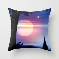 Roter Horizont. Throw Pillow
