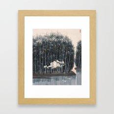 Wu Guanzhong 'Village in the Woods' - 吴冠中 树林村 Framed Art Print