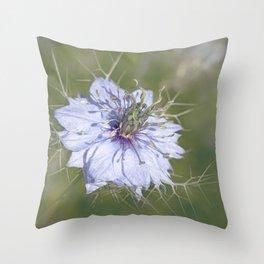 Love-in-a-Mist Throw Pillow