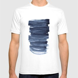 Just Indigo 3 | Minimalist Watercolor Abstract T-shirt