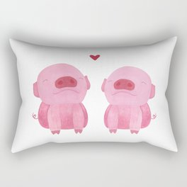 Piggy Love Rectangular Pillow