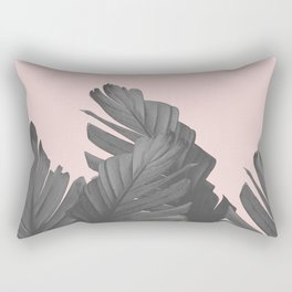 Blush Banana Leaves Dream #4 #tropical #decor #art #society6 Rectangular Pillow