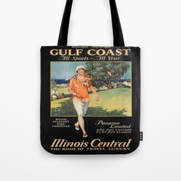 Vintage poster - Gulf Coast Tote Bag