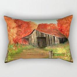 Fall Barn Rectangular Pillow