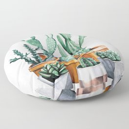 Potted Cacti Floor Pillow
