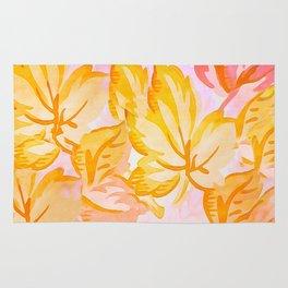 Soft Painterly Pastel Autumn Leaves Rug