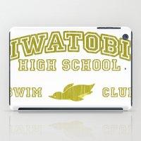 iwatobi iPad Cases featuring Iwatobi - Penguin by drawn4fans