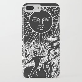 The Sun and Moon Tarot Cards | Obsidian & Pearl iPhone Case
