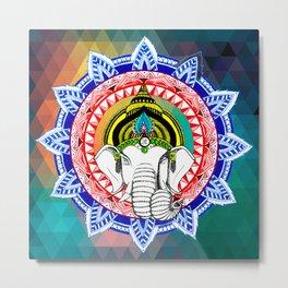Om Ganeshaya Namah v2 Metal Print