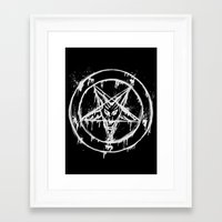 pentagram Framed Art Prints featuring Stanic Pentagram by Maioriz Home