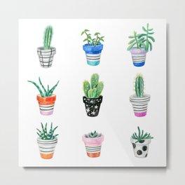 drawing cacti Metal Print