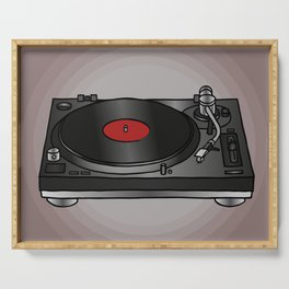 Vinyl record player Serving Tray