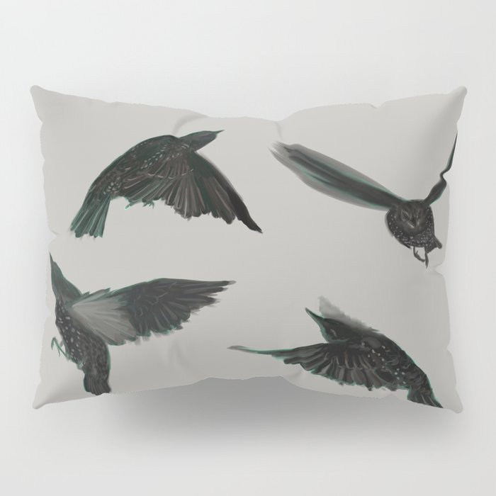 Common Starlings Pillow Sham