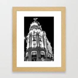 Metropolis - Madrid Framed Art Print