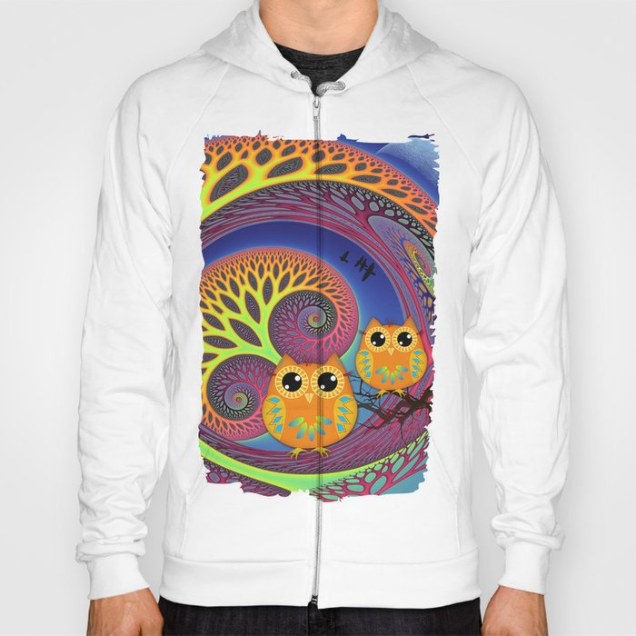 Owls in a magical tree Hoody