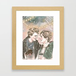 God Jul, Even and Isak Framed Art Print