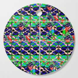 number 202 green blue orange pattern Cutting Board