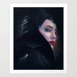Maleficent in Oil / Sleeping Beauty Art Print