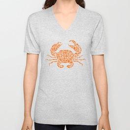 Crab Design Cool Gift For Him Or Her Unisex V-Neck