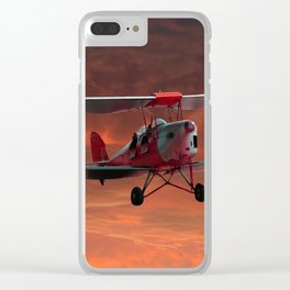 Two Seater Tigermoth Clear iPhone Case