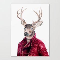 Deer In Leather Canvas Print