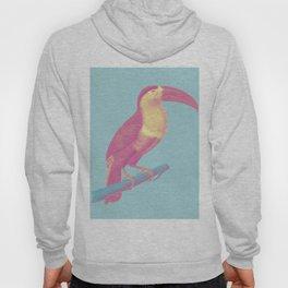 Tropical Watercolor Bird Hoody