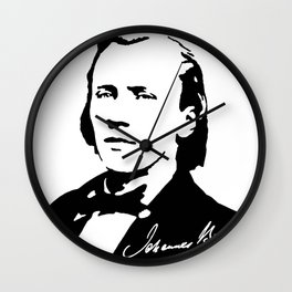 Johannes Brahms (1833 – 1897) in 1853 (2) Wall Clock
