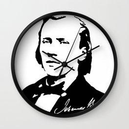 Johannes Brahms (1833 – 1897) in 1853 (2) Wall Clock