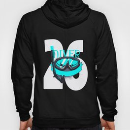 Scuba Diving 26th Birthday Diver 26 Years Gift Hoody