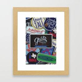 Patch Designs Framed Art Print