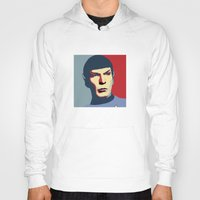 spock Hoodies featuring Spock by Blueshift
